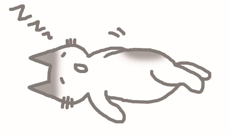 ねこ寝る3